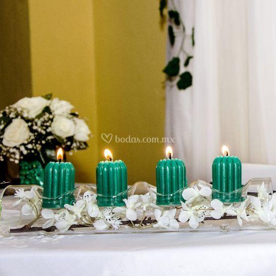 Iluminando las mesas con color