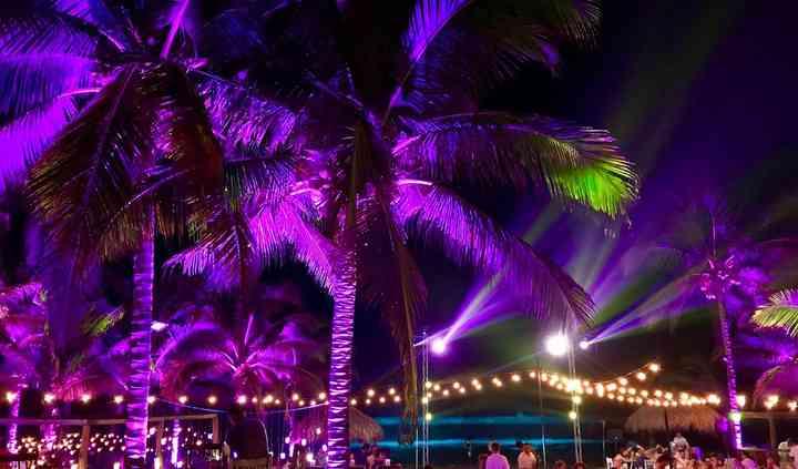 Iluminación Boda en Playa