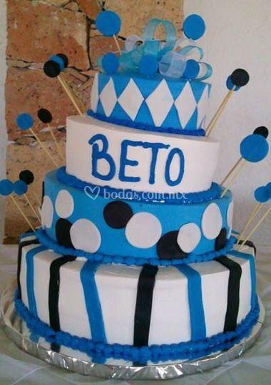 Man cake blue