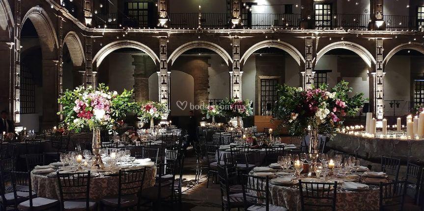 Iluminación centros de mesa