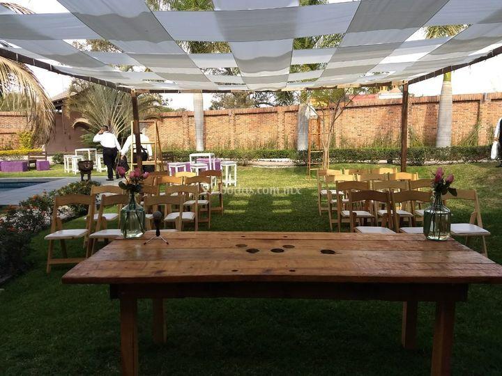 Ceremonias de jard n villa trisara foto 2 Jardin villa serrano cuernavaca