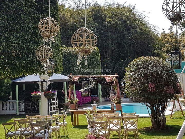 Decoraci n para ceremonia de jard n villa trisara foto 15 Jardin villa serrano cuernavaca