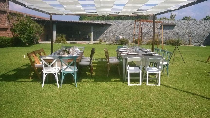 Jard n villa trisara for Carpas de madera para jardin
