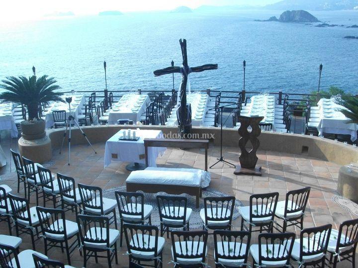 Ceremonia con vista al mar