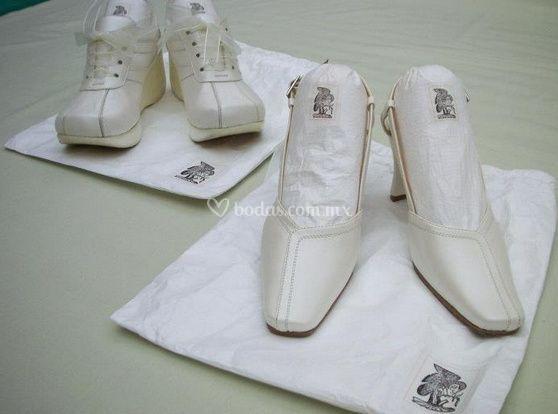 Cuidado zapatos de novia