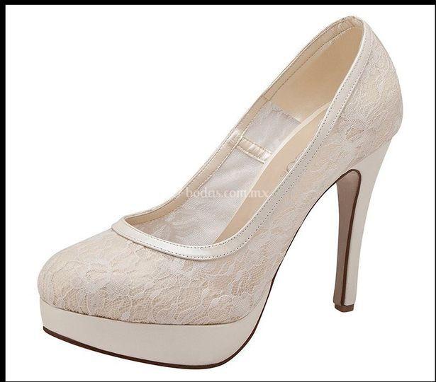 Zapato de novia encaje