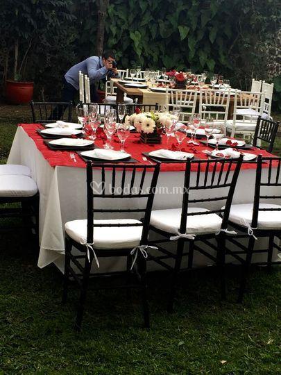 Mesas para la comida o cena