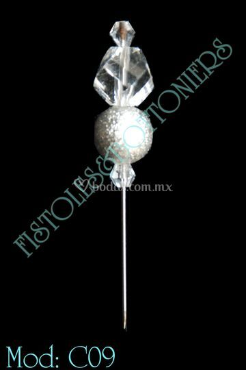 Fistol cristal y plata C09