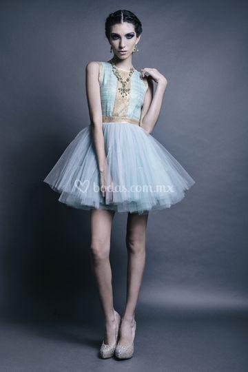 Vestido mini de tul