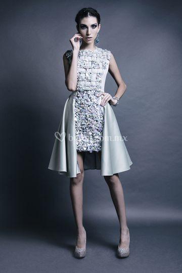 Vestido bordado de cristales