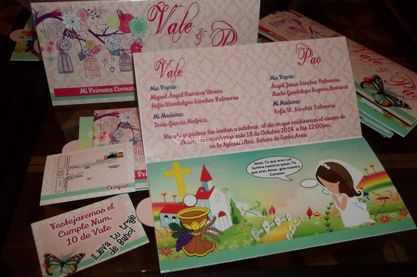 Paquete de invitaciones