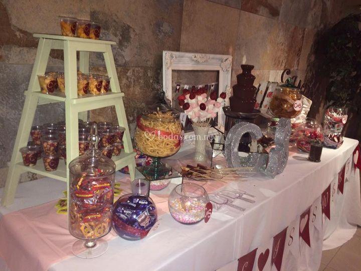 Sheiras candy bar for Cristaleria para bar