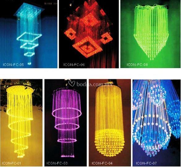 Candiles de fibra óptica