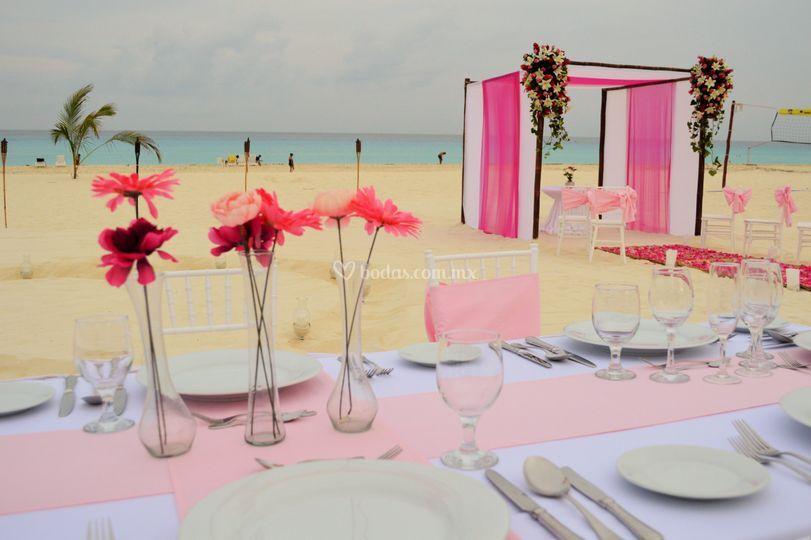 Cena privada en playa