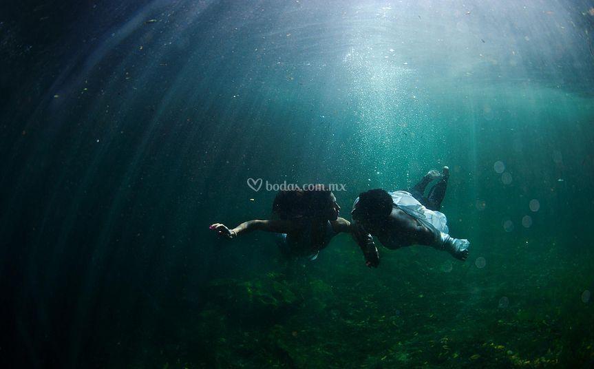Cenote subacuática