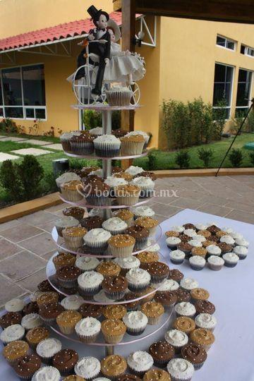Fuente de cupcakes