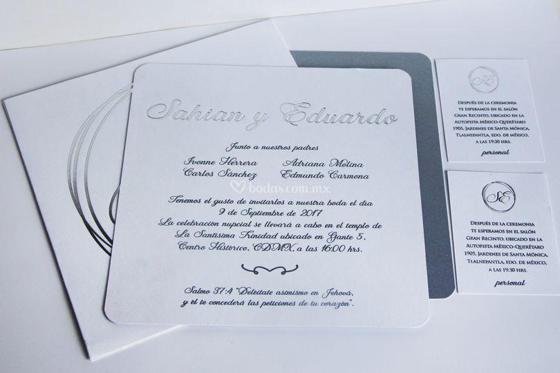 Invitación estilo clásico
