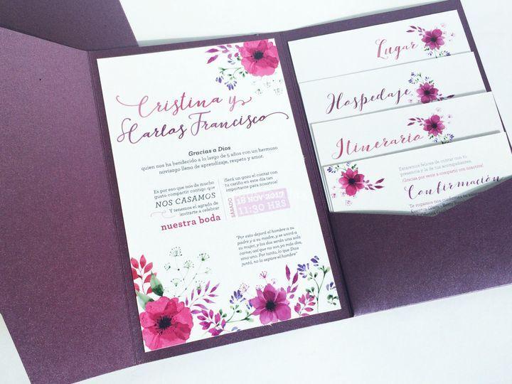 Invitación tipo folder