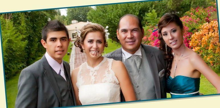Novia y familia
