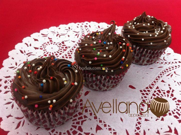Cupcakes con Crema de Avellana