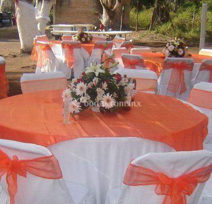Arreglo floral de la mesa