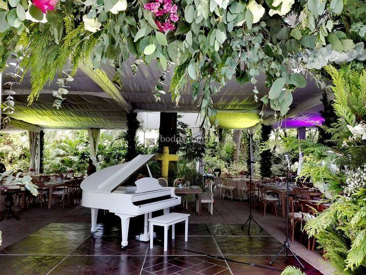 Piano blanco elegante