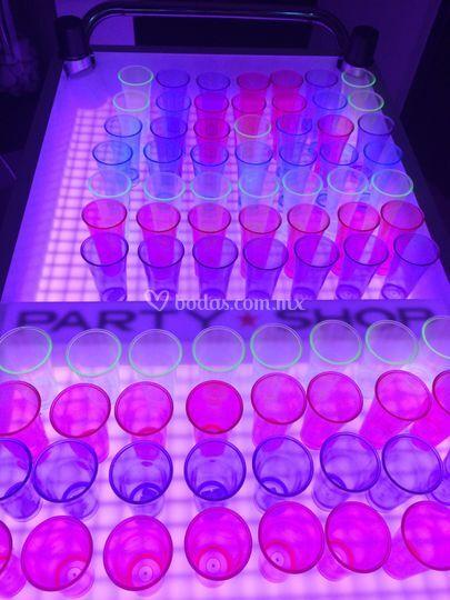 Shots en diferentes colores