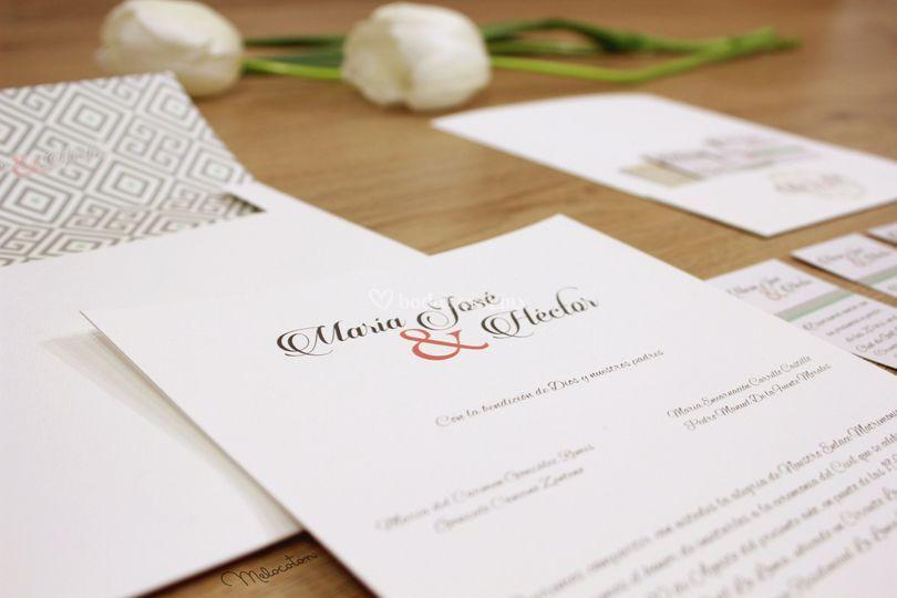 Invitaciones con sobre impreso