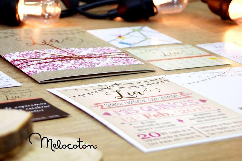 Invitaciones tipo tarjeta