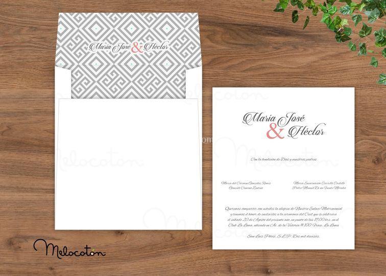 Invitaciones sobre impreso