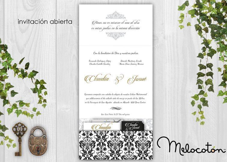 Invitaciones vintage elegante