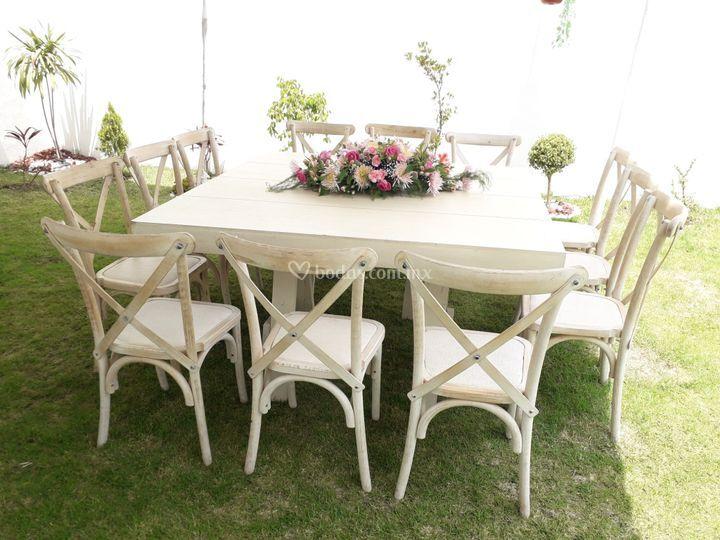 Mobiliario vintage boda civil