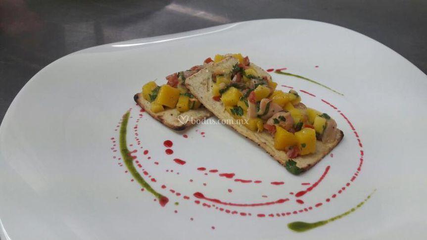 Ceviche tropical de pescado