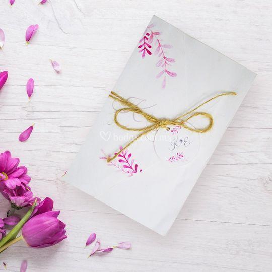 Invitación flores rosas
