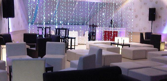 Iluminación de la sala lounge