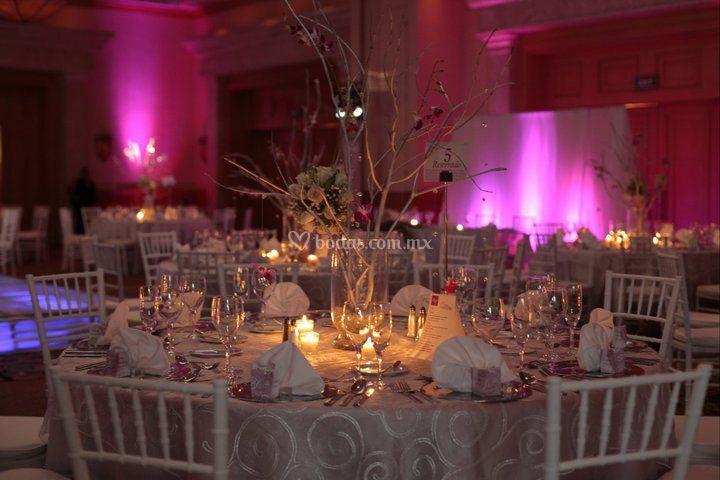 Montaje rosa romántico