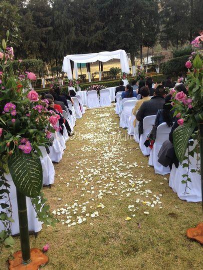 Montaje boda Fany