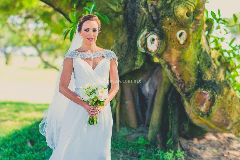 La novia en su boda