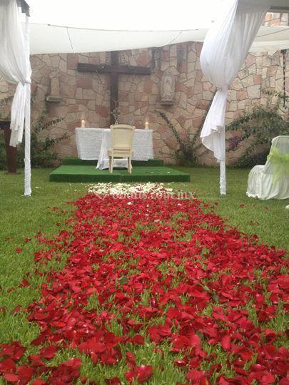 Jardín de la cruz ceremonia