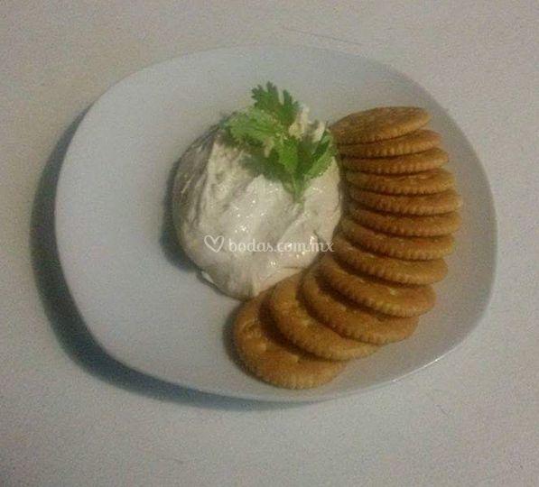 Dip de tocino con queso crema
