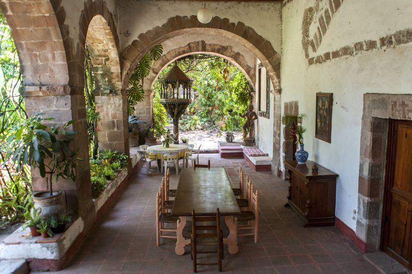 Interior de la Hacienda La Luna en Morelos