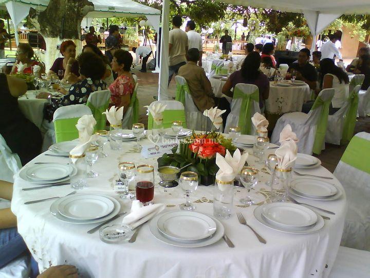 Evento en jardín