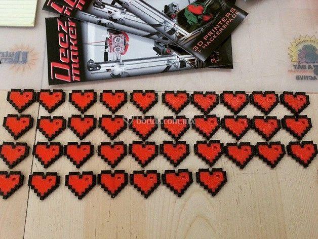 Llaveros Corazón 8-bits