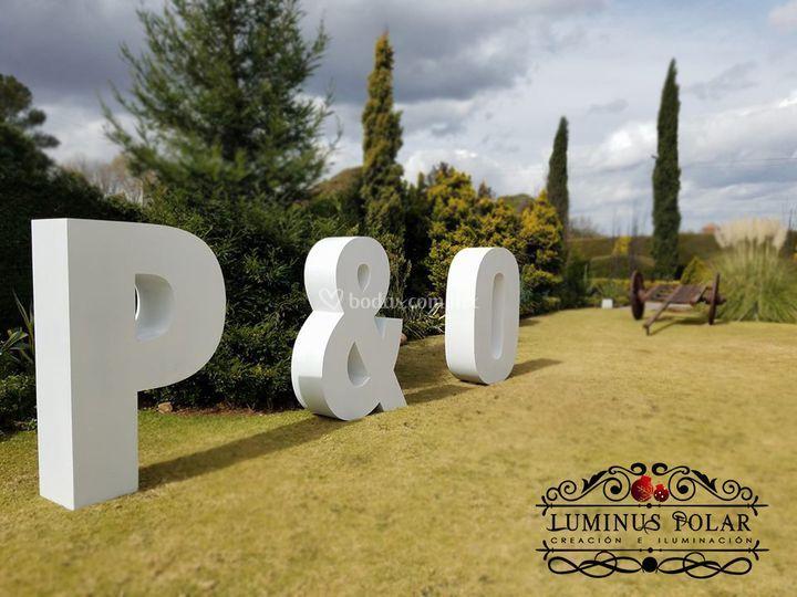 Letras gigantes para exterior
