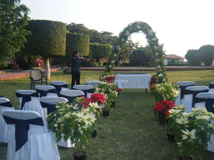 Jardines y salones para eventos