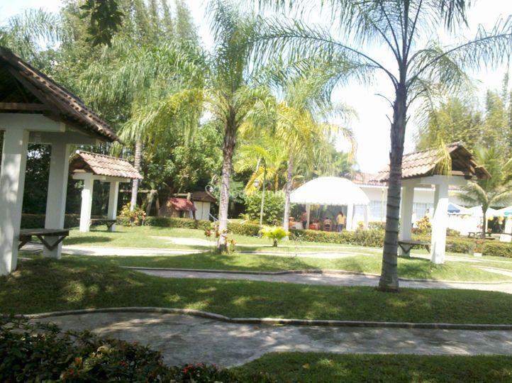 Área de jardín