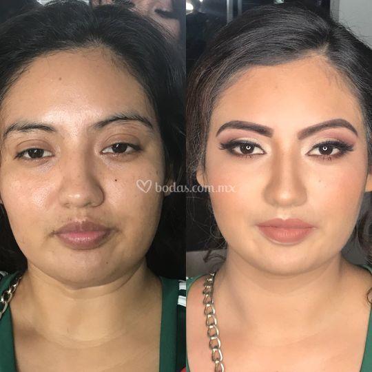 Prueba de maquillaje / aerogra