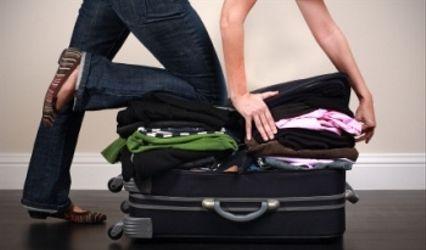 El equipaje para el viaje de novios