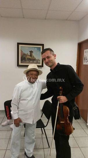 Con el Mtro. A.Manzanero