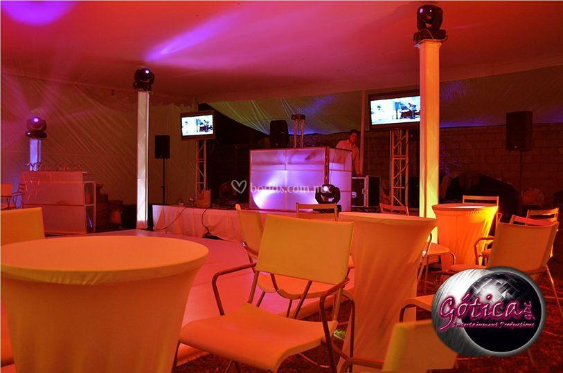 Iluminación y música para eventos